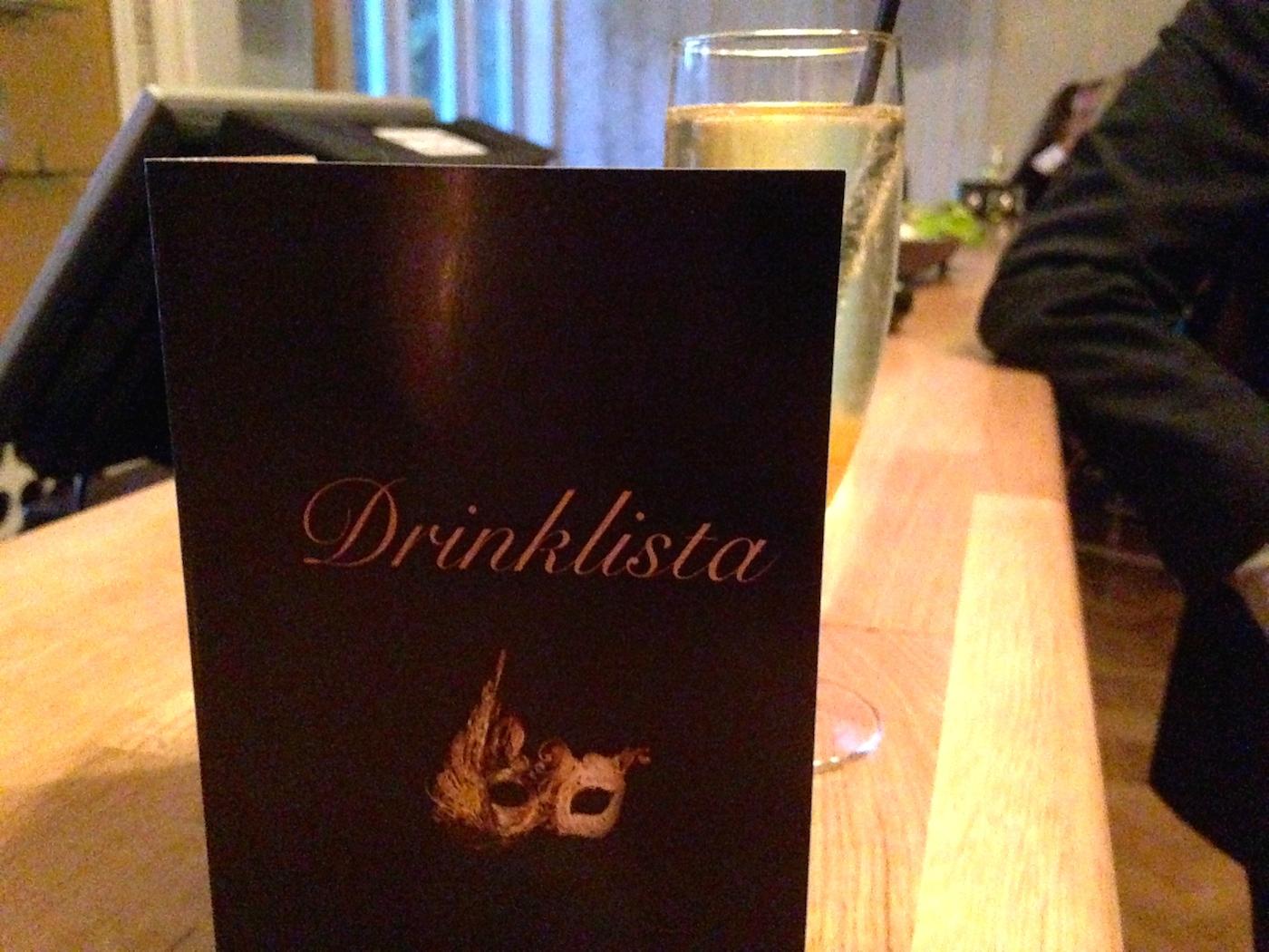 Kvällens drinklista